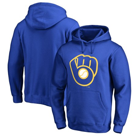 Milwaukee Brewers Fanatics Branded Cooperstown Collection Huntington Big & Tall Pullover Hoodie - Royal