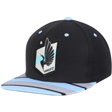 Minnesota United FC Mitchell & Ness Diamond Adjustable Snapback Hat - Black/Light Blue - OSFA (Mitchell Ness Diamond)