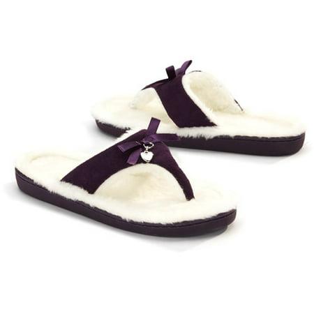 Memory Foam - Women\'s Thong Slippers - Walmart.com