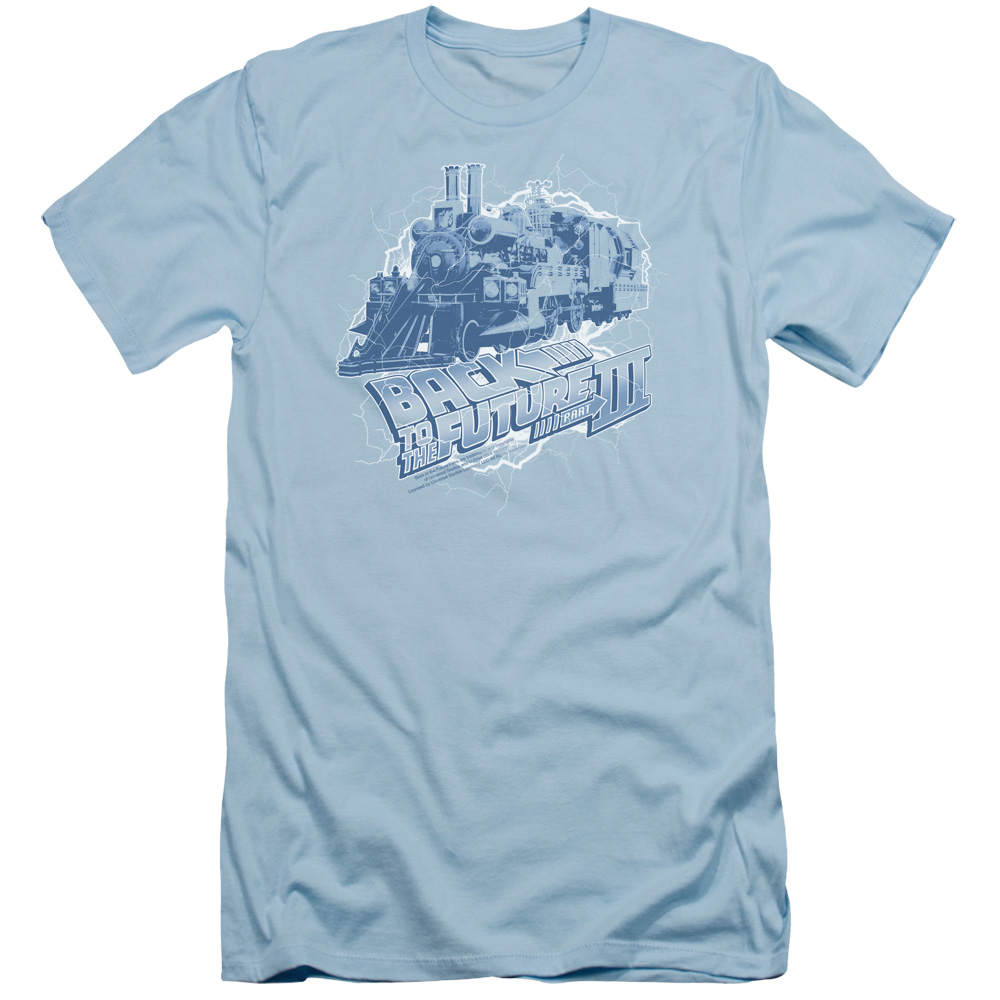 Back To The Future Iii Time Train Mens Slim Fit Shirt