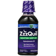 ZzzQuil Nighttime Sleep-Aid Liquid, Warming Berry Flavor 12 oz (Pack of 3)