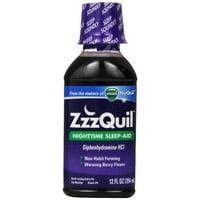 2 Pack - ZzzQuil Nighttime Sleep-Aid Liquid, Warming Berry Flavor 12 oz