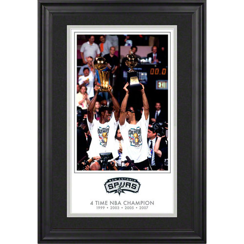 NBA - San Antonio Spurs 6-Time NBA National Champions 10x18 Framed Legacy Print