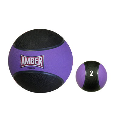 2 lbs. Bounceable Rubber Medicine Ball in Yellow