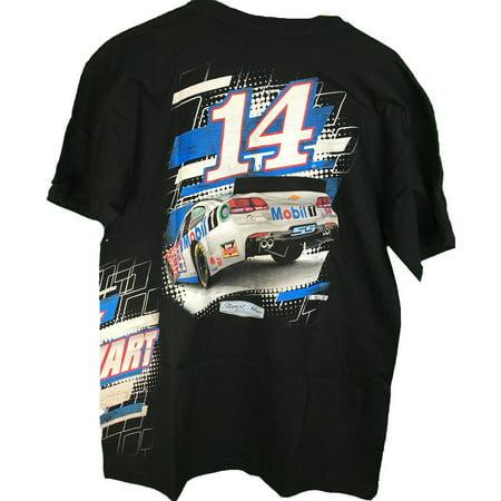 2016 NASCAR Tony Stewart #14 Mobil One Slingshot Adult T-Shirt - Tony Stewart Halloween