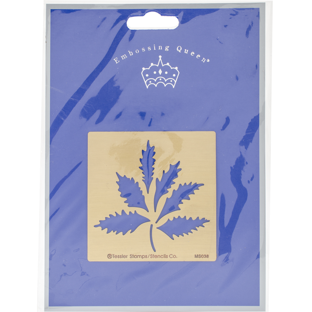 "Embossing Queen Brass Stencil 3""X3""-Maple Leaves"