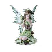 Summer Princess Flower Fairy and Dragon Mystical Statue Figurine Meadow