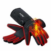 Aiper Electric Heated Gloves for Women Men Anti-slip Hand Warmer for Skiing Fishing Hiking Motorcycle.(XL)