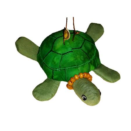 Hawaiian Tropical Honu Sea Turtle Christmas Fabric Ornament ()