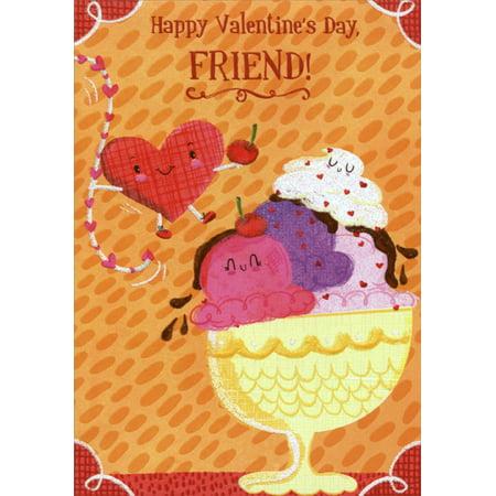 Designer Greetings Ice Cream Sundae: Friend Juvenile Valentine's Day Card