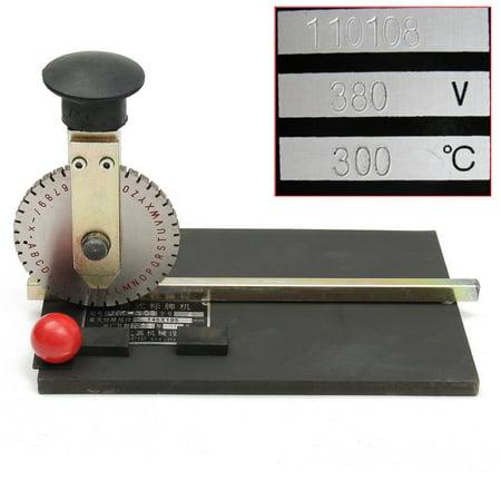 - Manual Stamping Embosser Embossing Machine Metal Deboss Plate Dog Metal Label Machine Tag Printer