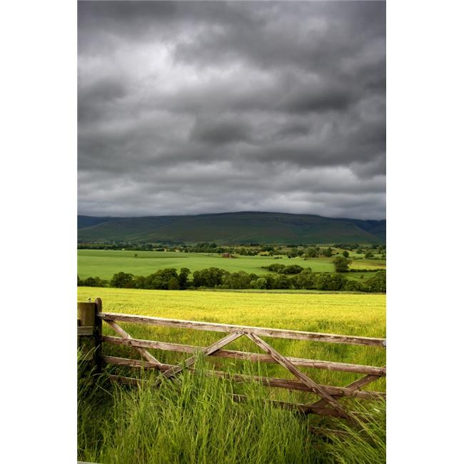 Posterazzi DPI1838104LARGE Dark Clouds Over Fields England Poster Print, Large - 22 x 34 - image 1 of 1