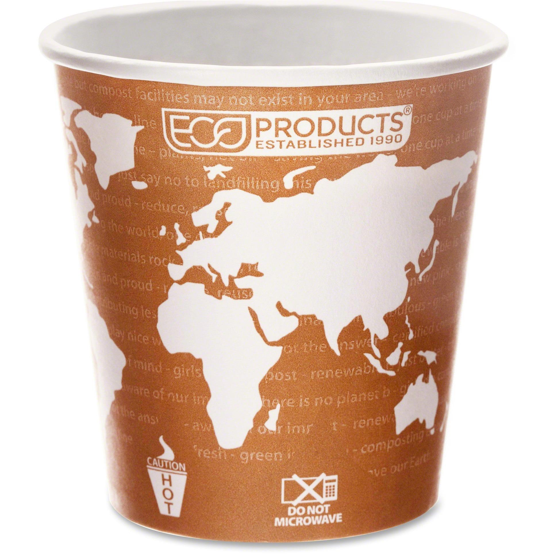 Eco-Products, ECOEPBHC10WA, World Art Hot Beverage Cups, 1000 / Carton, Multi, 10 fl oz