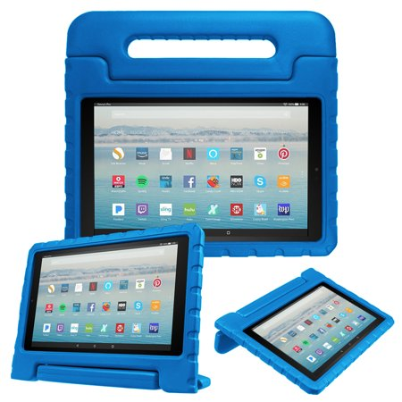Fintie Kiddie Case for Amazon Fire HD 10 Tablet 7th Gen, 2017 Release - Shock Proof Light Weight Friendly Cover, Blue