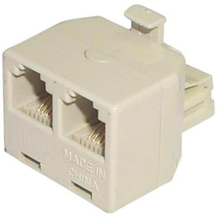 Ivory Modular Duplex Jack Adapter Black Point Outlet