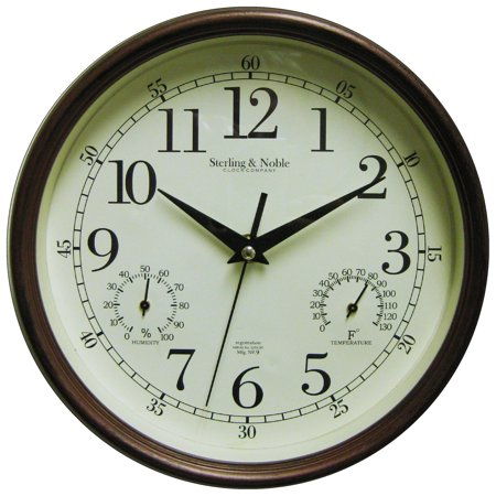 Mainstays Indoor Outdoor Wall Clock Antique Bronze