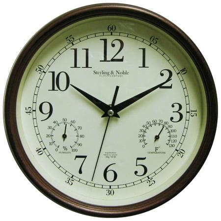 Mainstays Indoor Outdoor Wall Clock Antique Bronze