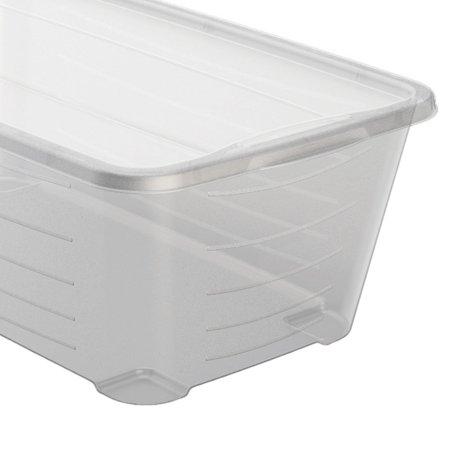 Life Story SHB-4 6 Quart Rectangular Clear Plastic Storage Shoe Box, 4 Pack