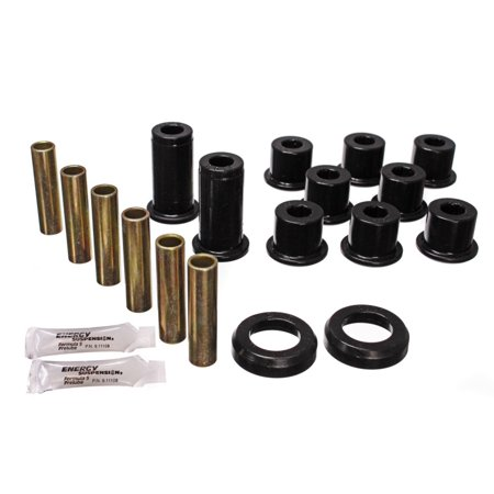 S10 Leaf Springs - Energy Suspension 82-04 GM S-10/S-15 Pickup 2WD / 82-04 S-10 Blazer Blk Rear Leaf Spring Bushing Set