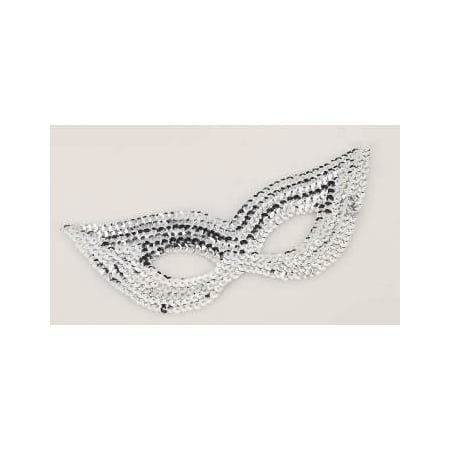 SEQUIN EYE MASK-SILVER 12 PACK - Purple Masquerade Masks For Women