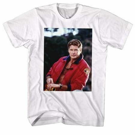Baywatch Tv The Hoff Adult Short Sleeve T Shirt - Baywatch Costume
