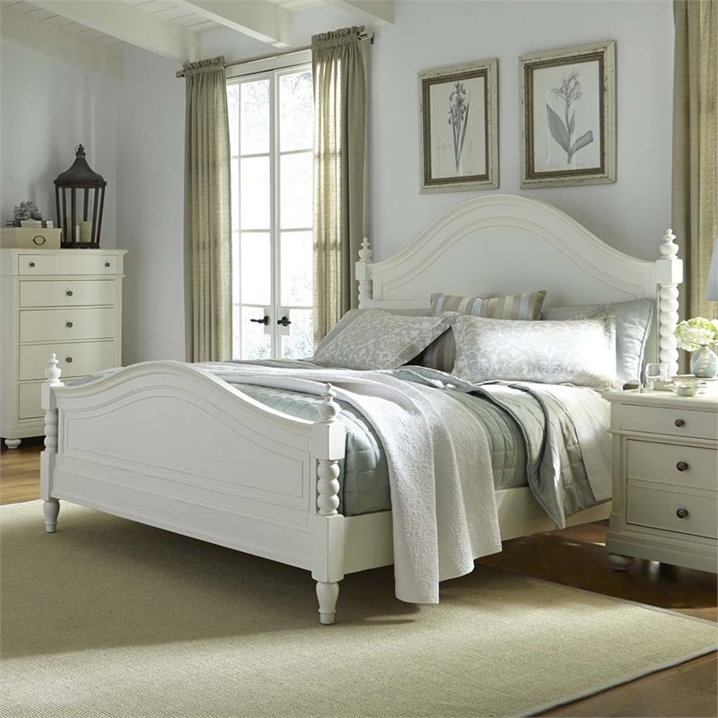 Liberty Furniture Harbor View II King Poster Bed in Linen
