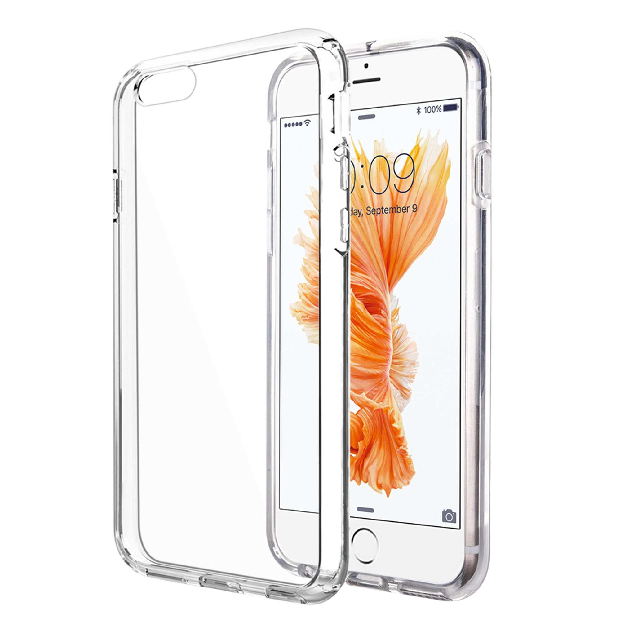 Insten High Quality Crystal Skin TPU Rubber Skin Gel Case Cover For Apple iPhone 6s Plus / 6 Plus - Clear