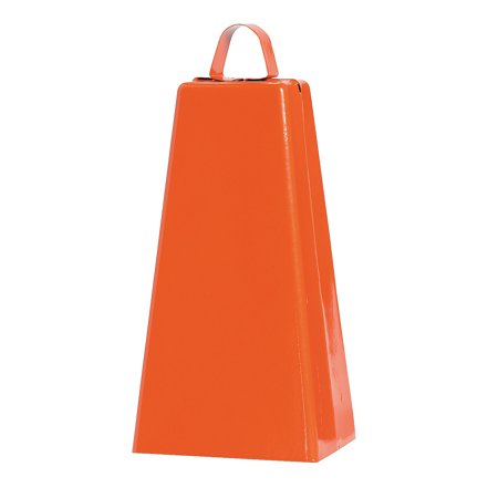 Fun Express - Orange Jumbo Cowbell (pc) - Toys - Noisemakers - Spirit Noisemakers - 1 Piece - Spirit Cowbells