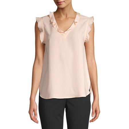 Bebe Sleeveless (Kaitlyn Ruffled Sleeveless Top )