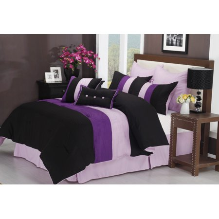 Florence 8-Piece Comforter Set With Matching Shams and Bed Skirt, 4 Colors