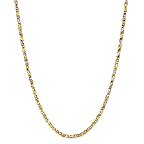 14k Yellow Gold 24in 3.20mm Solid Lightweight Anchor Necklace Chain by Jewelrypot