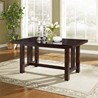 Walker Edison Traditional Wood Expandable Dining Table - Cappuccino