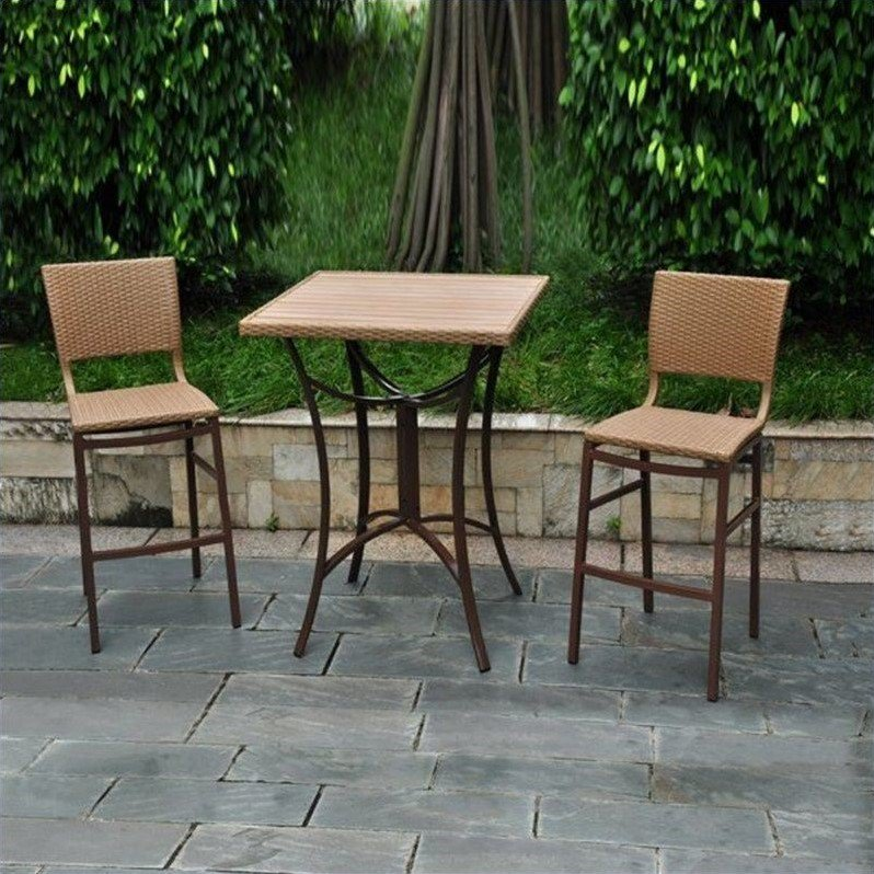International Caravan Barcelona Wicker Resin/Aluminum Patio Table
