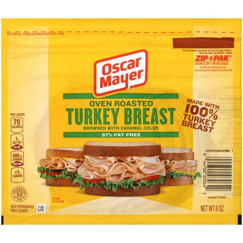 Oscar Mayer Sliced Oven Roasted Turkey Breast & White Turkey, 8 oz