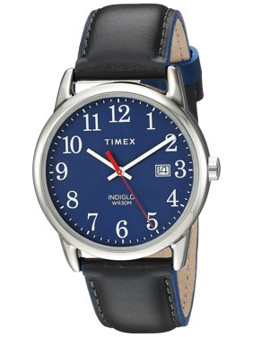 7c29f05d5 Product Image Timex Mens Easy Reader 38mm Gray/Blue Leather Strap Watch  TW2R62400