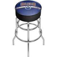 NHL Chrome Bar Stool with Swivel, Edmonton Oilers