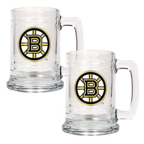 Great American NHL 15 oz. Logo Glass Tankard Set