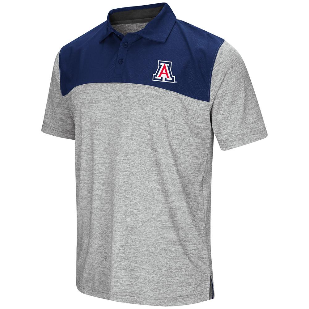 "Arizona Wildcats NCAA ""Clear Sailing"" Men's Performance Woven Polo Shirt"