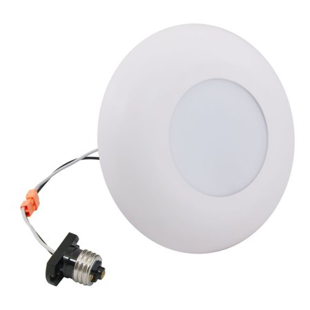 St Mini 30 Wh Led Satellite Disk Light Retrofit Kit With White Trim  9 Watt  650 Lumen  Dimmable  Fits 3 Or 4 Inch Recessed Cans By American Lighting