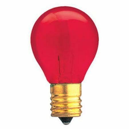 Norman Lamps 10S11N-130V-TR - 130V, 10W, S11 Miniature Light Bulb, Transparent Red (Pack of 10) (130v Miniature)