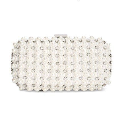 Inc International Concepts Kiana Imitation Pearl Small Clutch Purse Handbag