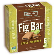 Nature's Bakery Stone Ground Whole Wheat Apple Cinnamon Fig Bars, 12 oz, (Pack of 6)