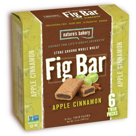 Natures Bakery Stone Ground Whole Wheat Apple Cinnamon Fig Bars  12 Oz   Pack Of 6