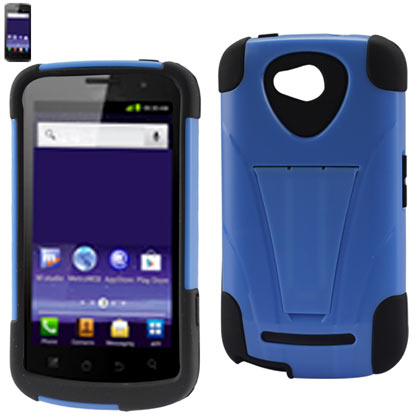 Silicon Case+Protector Cover For Coolpad Quattro 4G 5860E New Type Kickstand Navy Black