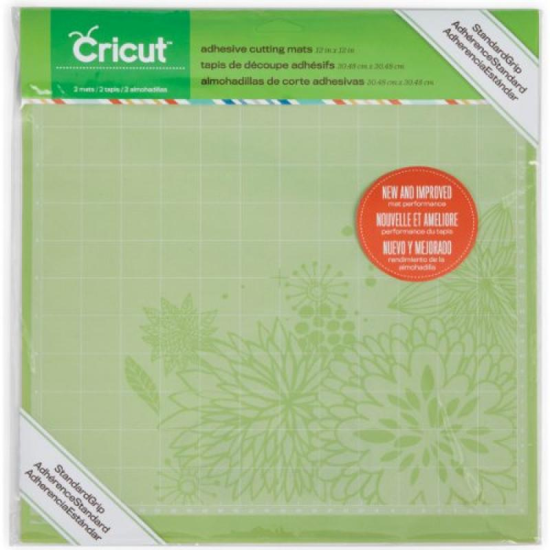 Set of 2 Cricut 29-0386 12-by-12-Inch Tacky Cutting Mats with Measurement Grids