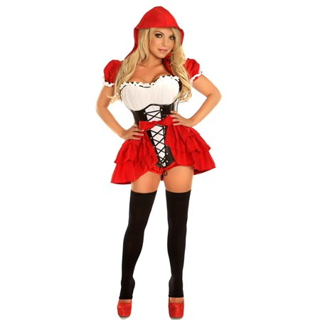 53ea2f9cf18 Daisy Corsets Top Drawer 3 PC Naughty Red Riding Hood Sexy Costume ...
