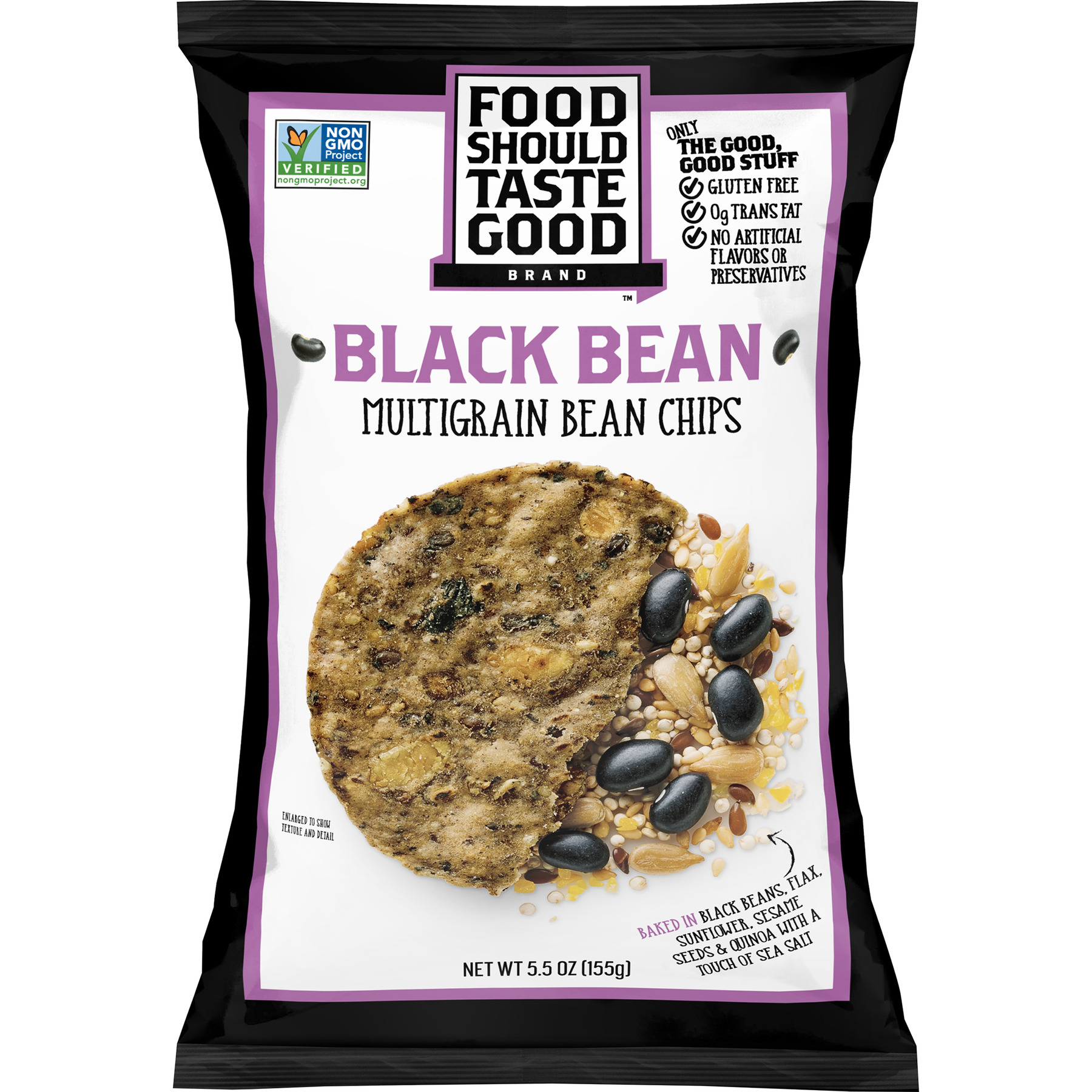 Food Should Taste Good Black Bean Multigrain Chips, 5.5 oz