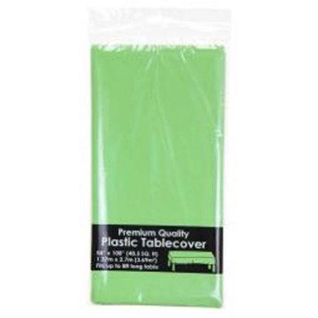 Lime Green Party Supplies - Plastic Tablecloth 54