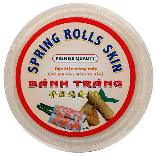 Tasty Joy Spring Roll Skins Rich Wraps, 12 oz, (Pack of 10)