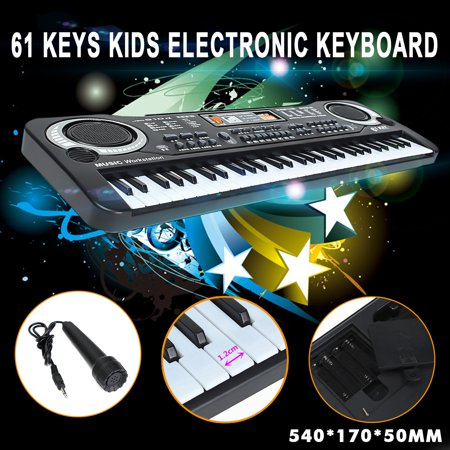 Digital Organ (Black 61 Keys Digital Music Electronic Keyboard Key Board Kids Toy Gift Electric Piano Organ )